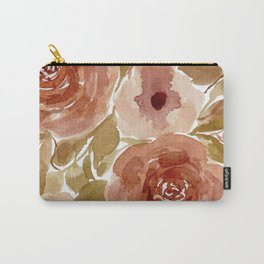 Autumnal watercolor flowers Carry-All Pouch