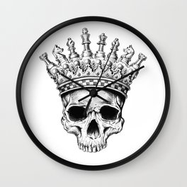 Heavy lies the crown Wall Clock