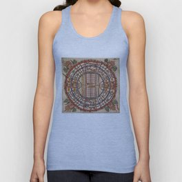 Manuṣyaloka, Map of the World of Man, according to Jain cosomological traditions (circa 1890) Unisex Tank Top