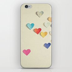 Paper Hearts iPhone & iPod Skin