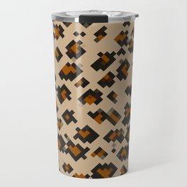 Pixelated Leopard Travel Mug
