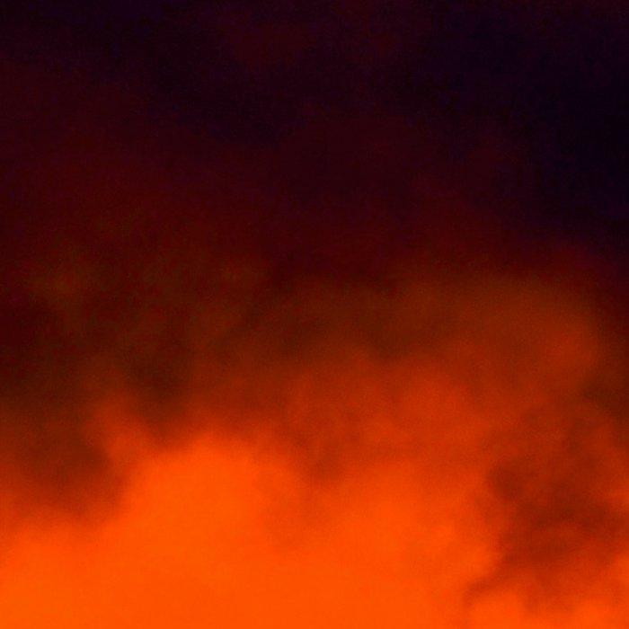 Fire Red Sunrise Leggings