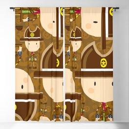 Cartoon Cowboy Sheriff Pattern Blackout Curtain