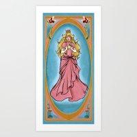 princess peach Art Prints featuring Princess Peach by Banana Leviathan