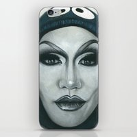 cookie iPhone & iPod Skins featuring Cookie by Tom Christophersen Creates