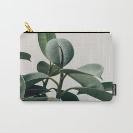 Minimalist Mid Century Modern House Plant Green Leaves Carry-All Pouch