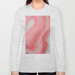 Coral Pink Agate  Long Sleeve T-shirt