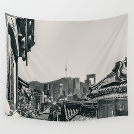 Seoul Cityscape Wall Tapestry