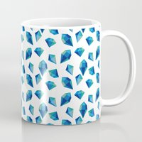 diamonds Mugs featuring diamonds by Sil Elorduy
