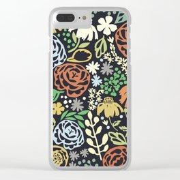 Dark Garden Clear iPhone Case