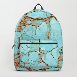 Cracked Turquoise & Rust Backpack