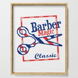 Barber Magic - red, white, blue Serving Tray