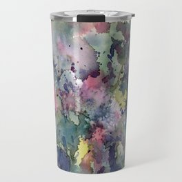 Impressionistic Watercolor of Sweet Peas Travel Mug