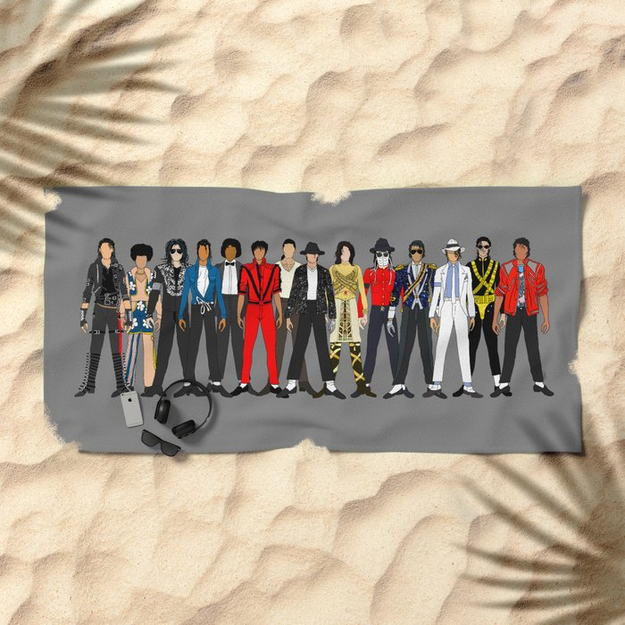King MJ Pop Music Fashion LV Beach Towel
