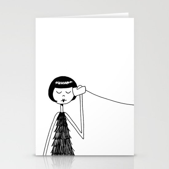 Eloise and Ramona play telephone - Part 1 Stationery Cards