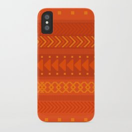 Lava - tribal geometrics iPhone Case