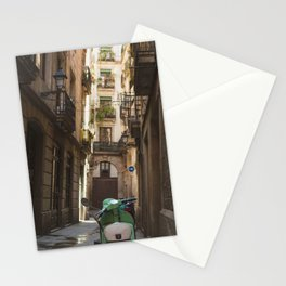 Scooter in Barcelona Stationery Cards
