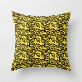 Butterflies (yellow) Throw Pillow
