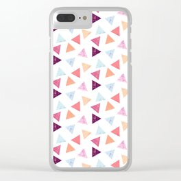 Triangle party Clear iPhone Case