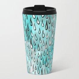 Aqua Raindrops Travel Mug