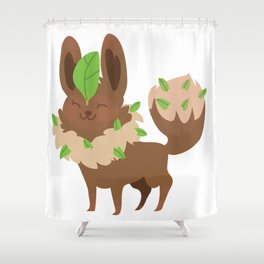 Leafeon Shower Curtain