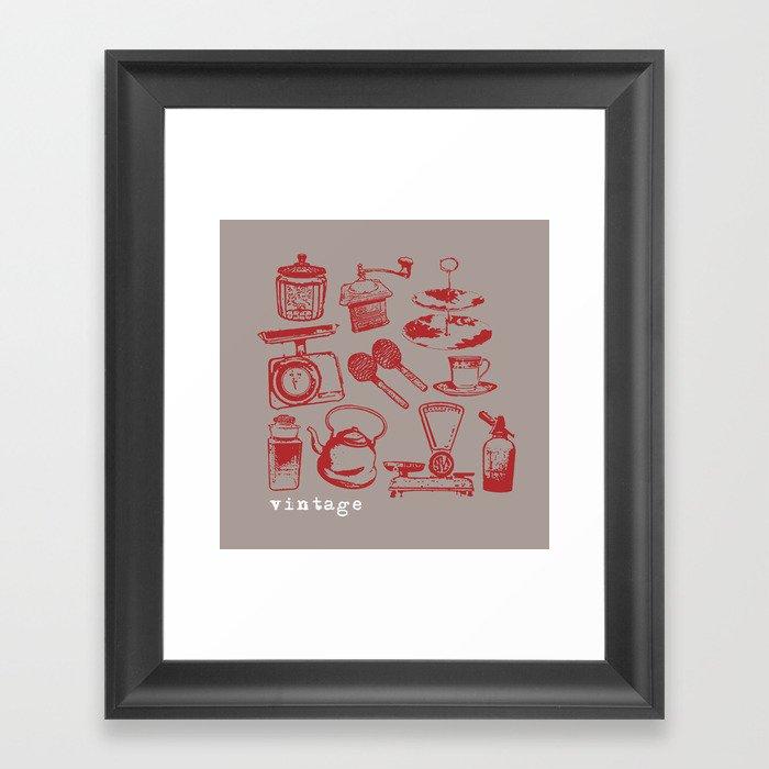 kitchen vintage Framed Art Print
