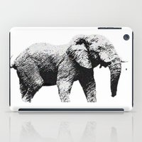 african iPad Cases featuring African Elephant by T.E.Perry