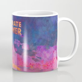 Celebrate Summer Sunset Scene Watercolor Painting Coffee Mug