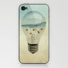 blue sea thinking iPhone & iPod Skin