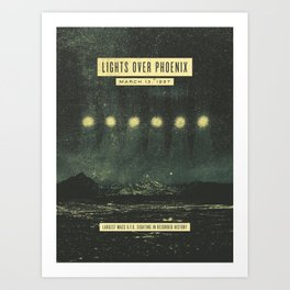 Lights Over Phoenix Art Print