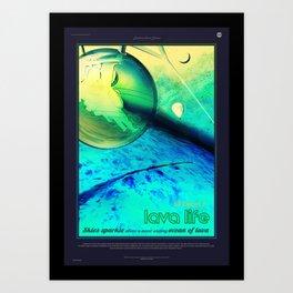 NASA Visions of the Future - Lava Life at 55 Cancri e Art Print