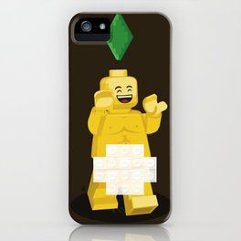 I want to brick free ! iPhone Case