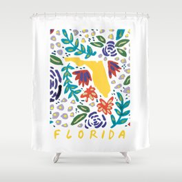 Florida + Florals Shower Curtain
