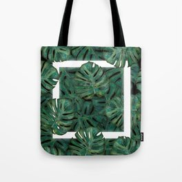 Square Between the Leaves Tote Bag