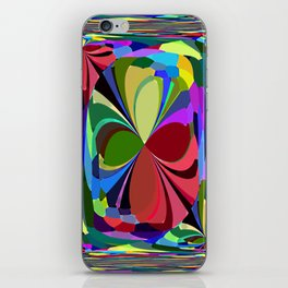 Re-Created ButterfliesXVII by Robert S. Lee iPhone Skin