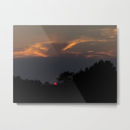 Eying the Sunset Metal Print