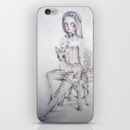 The girl and the fawn iPhone Skin