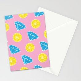 Diamonds and Lemons Stationery Cards