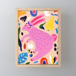Pink Bunny Framed Mini Art Print