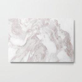 White Marble Mountain 013 Metal Print