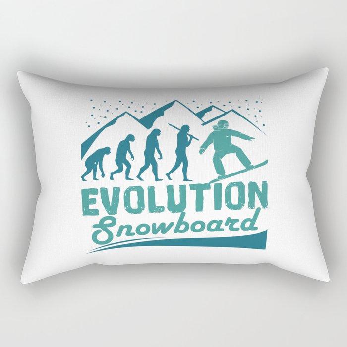 Evolution Snowboard Rectangular Pillow