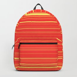 Yellow Orange Candy Lines Backpack