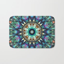 Stained Glass Abstract Bath Mat