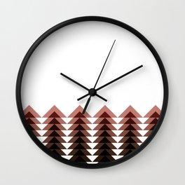 Brown Triangle Tree Wall Clock