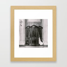 Italian confession Framed Art Print