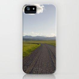 Gravel Road iPhone Case