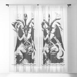 Der Baphomet Sheer Curtain