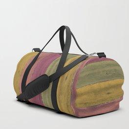 Colorful Wood Grain Duffle Bag