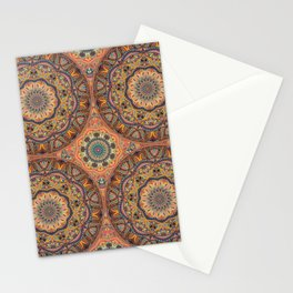 Vintage mandala pattern with floral elements Stationery Cards