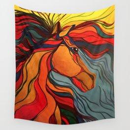 Wild Horse Breaking Free Southwestern Style Wall Tapestry